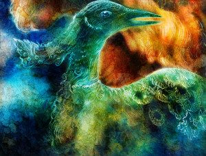 the phoenix bird collage